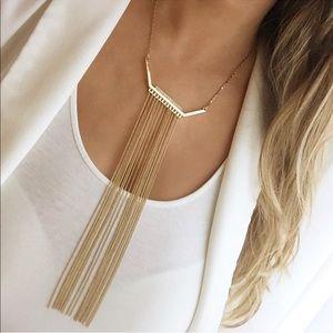 Express gold fringe necklace
